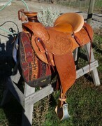 Michael Jorden, saddle art for sale.
