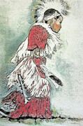 George Traicheff, Okanogan Dancer, stone lithograph