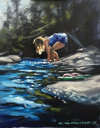 Bryan Coombes, Girl at Stream