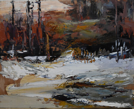 Patricia Falck, Last Day's of Fall ,Oil on Canvas 16X24 in