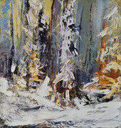 Patricia Falck , Winter Magic, Oil on Canvas